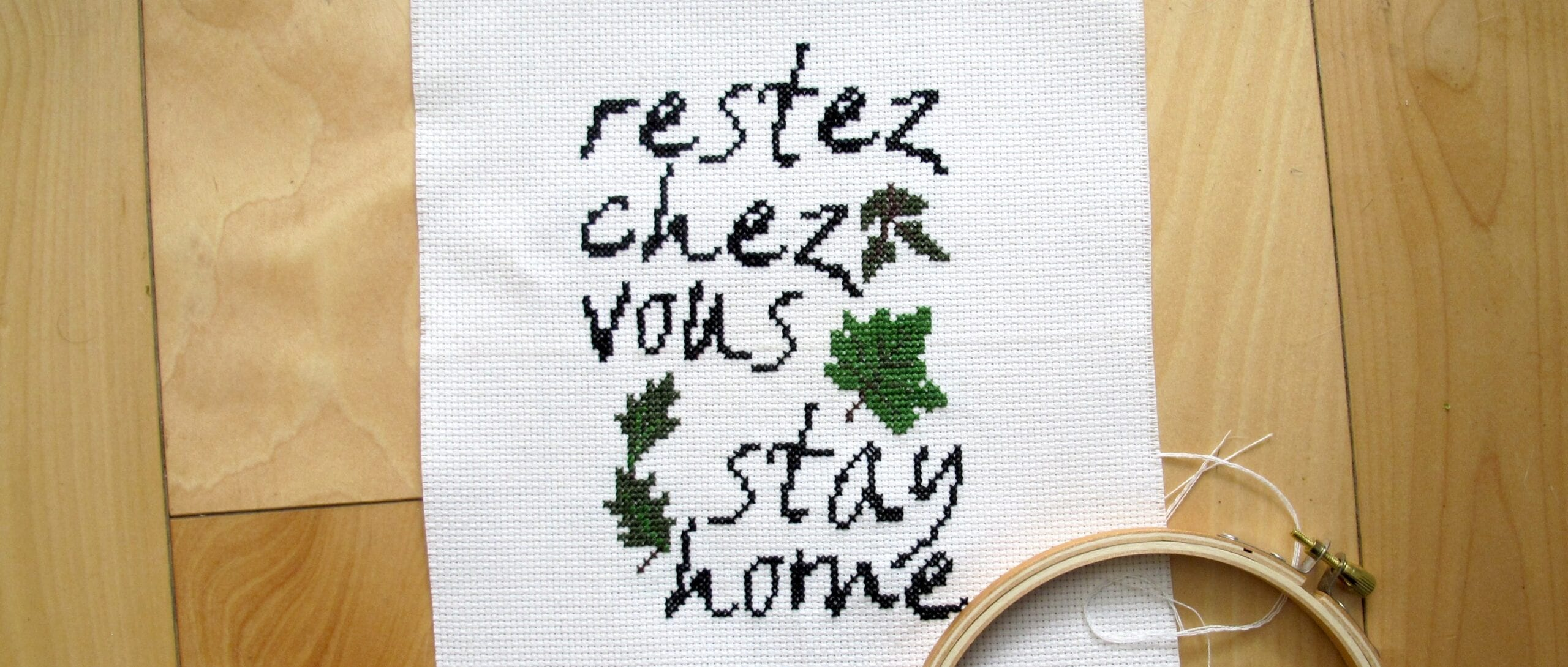 Stay (Close to) Home Cross-Stitch Pattern