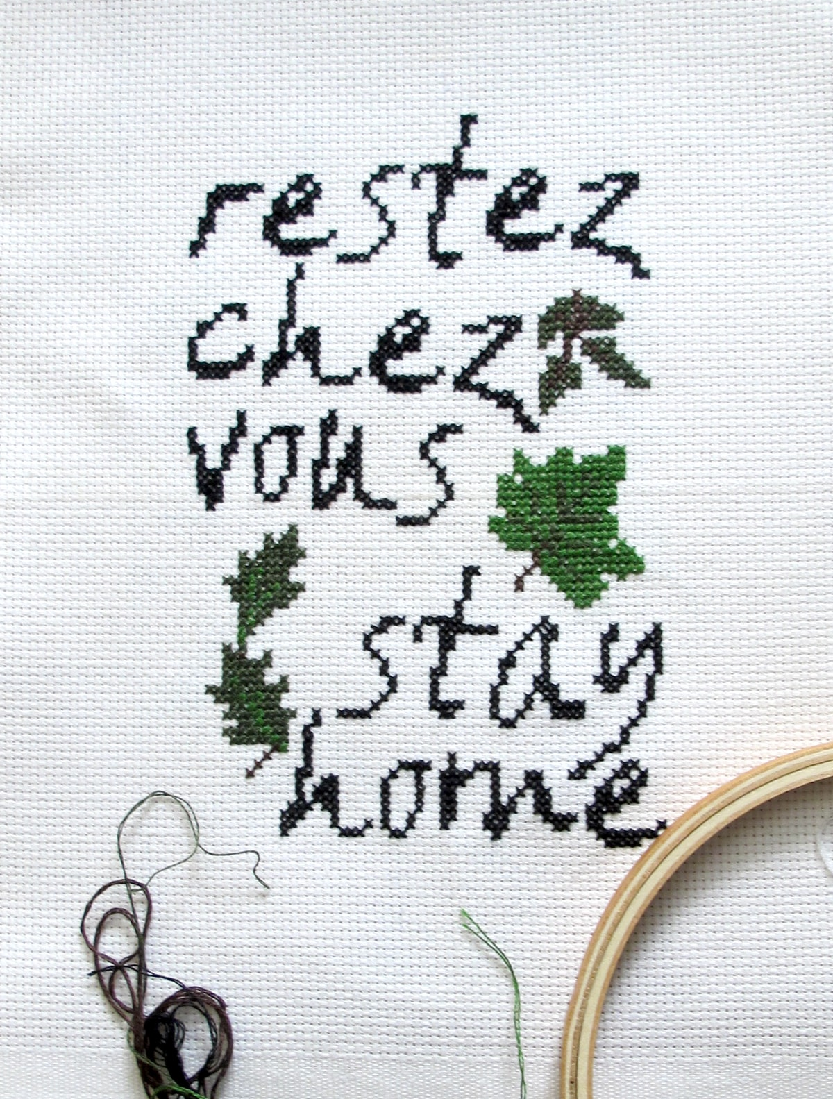 Close to Home / Restez Chez Vous cross-stitch pattern image