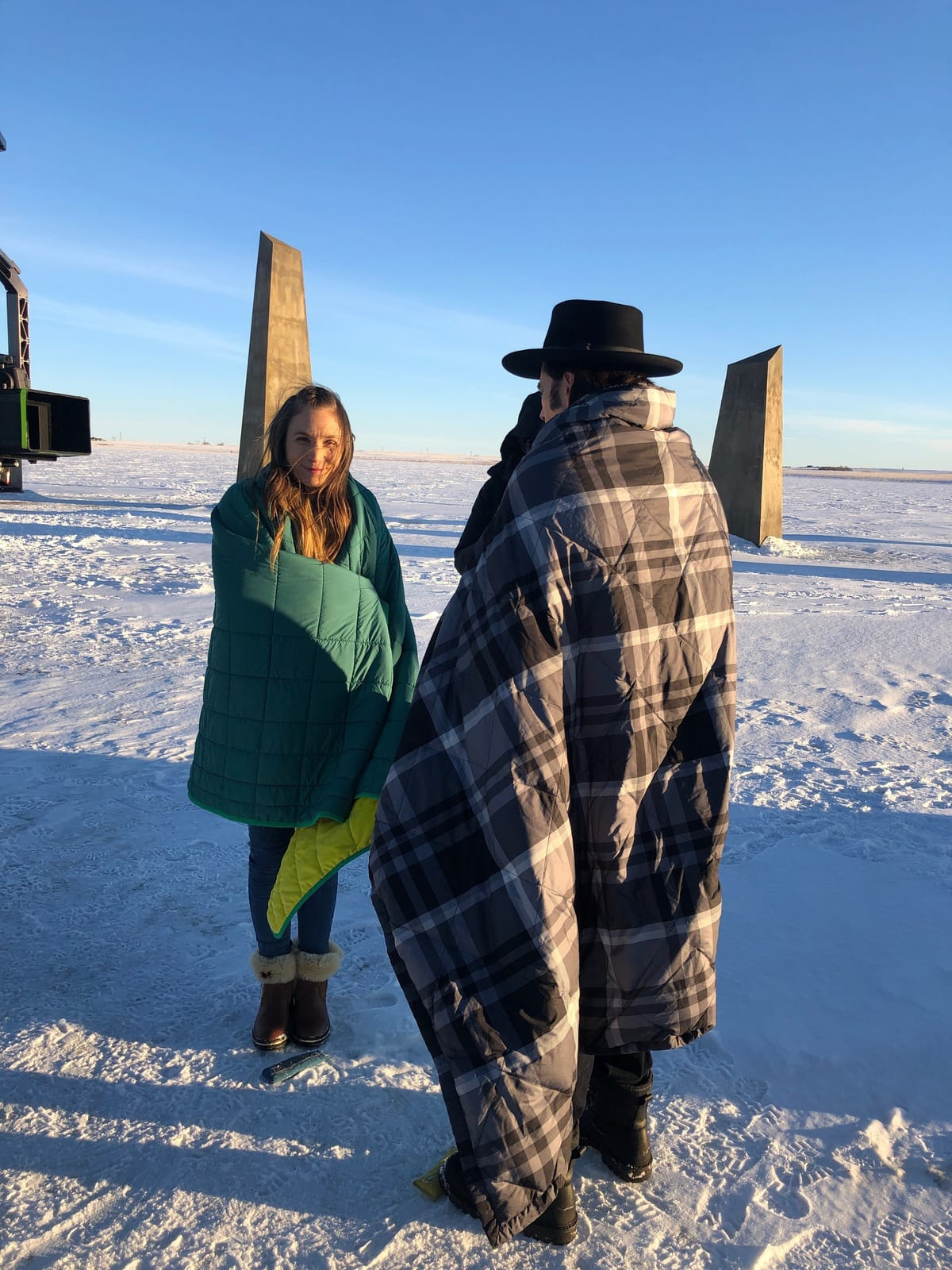 Wynonna Earp Behind-The-Scenes Photos: Keeping  Cast and Crew Warm