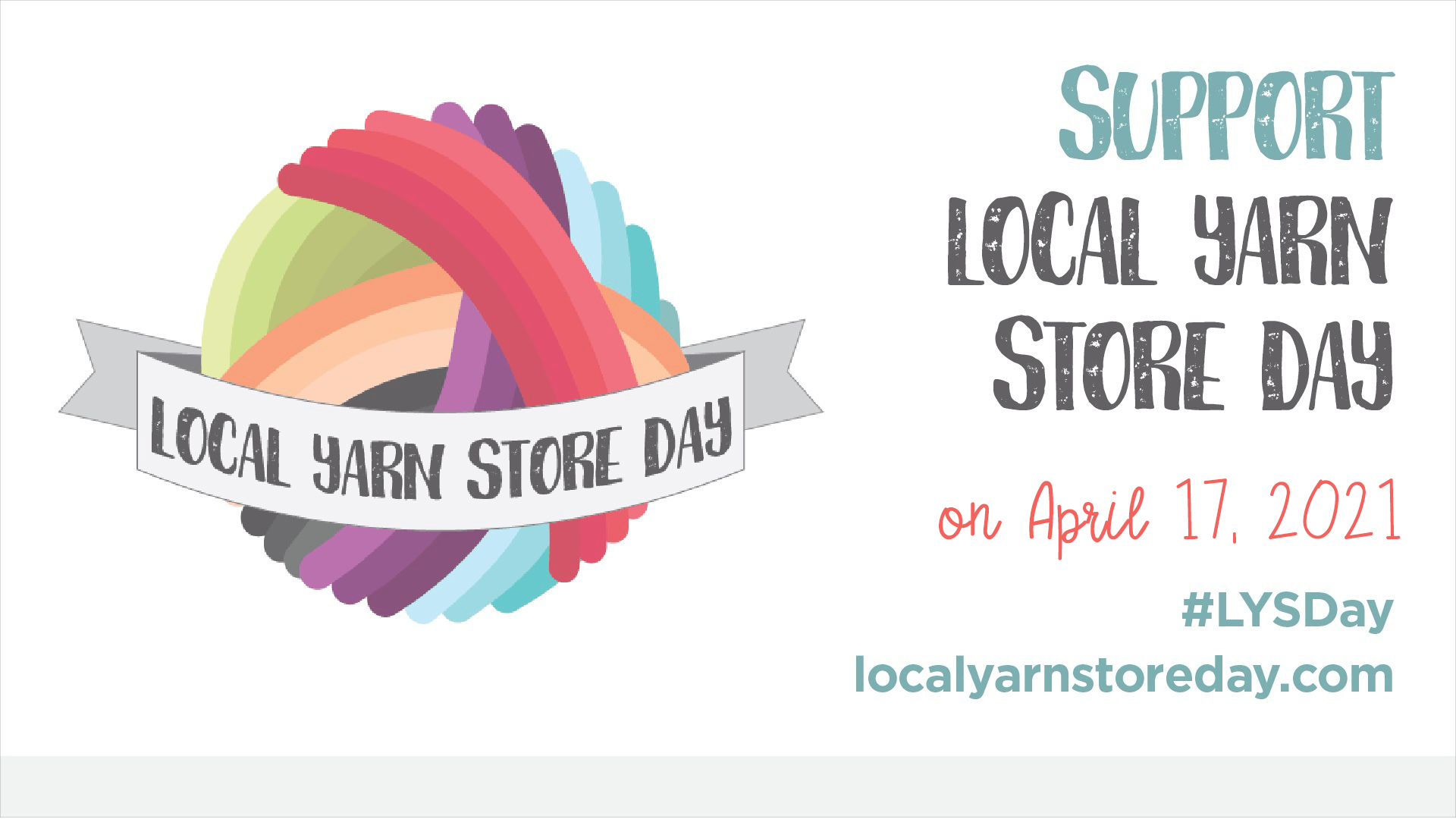 Image description: Local Yarn Store Day promotion