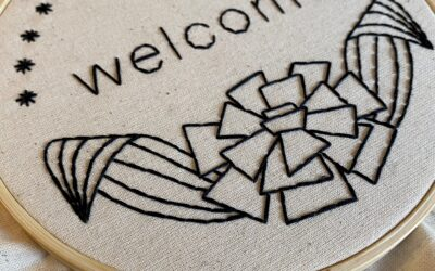 """Welcome"" Embroidery Pattern [Download]"