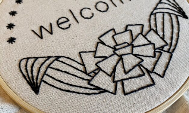 """""""Welcome"""" Embroidery Pattern [Download]"""